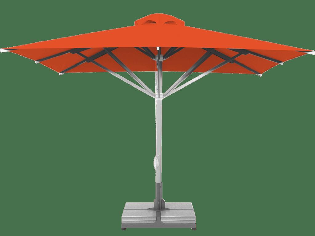 Τηλεσκοπική Επαγγελματική Ομπρέλα Grand Orange Υπερ-βαρεως Τύπου - Sunblock