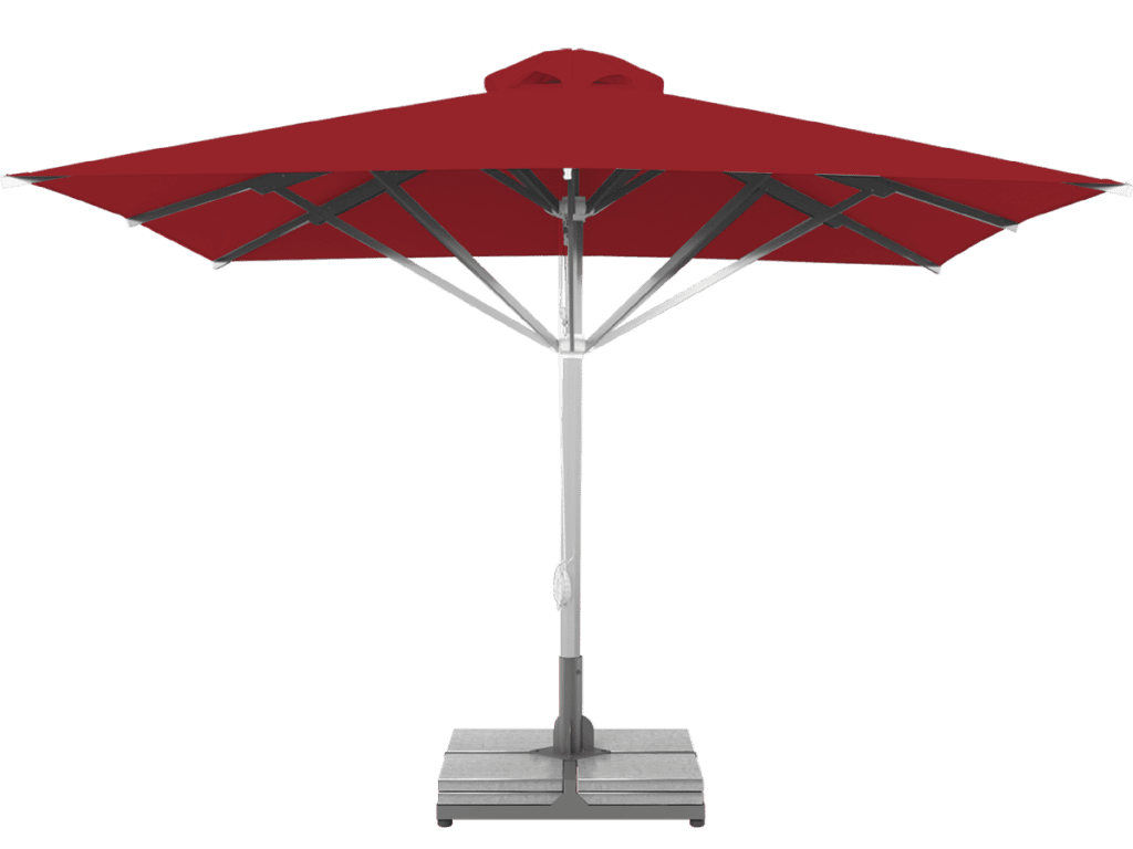 Telescopic Professional Umbrella Grand Extra Heavy Type rouge