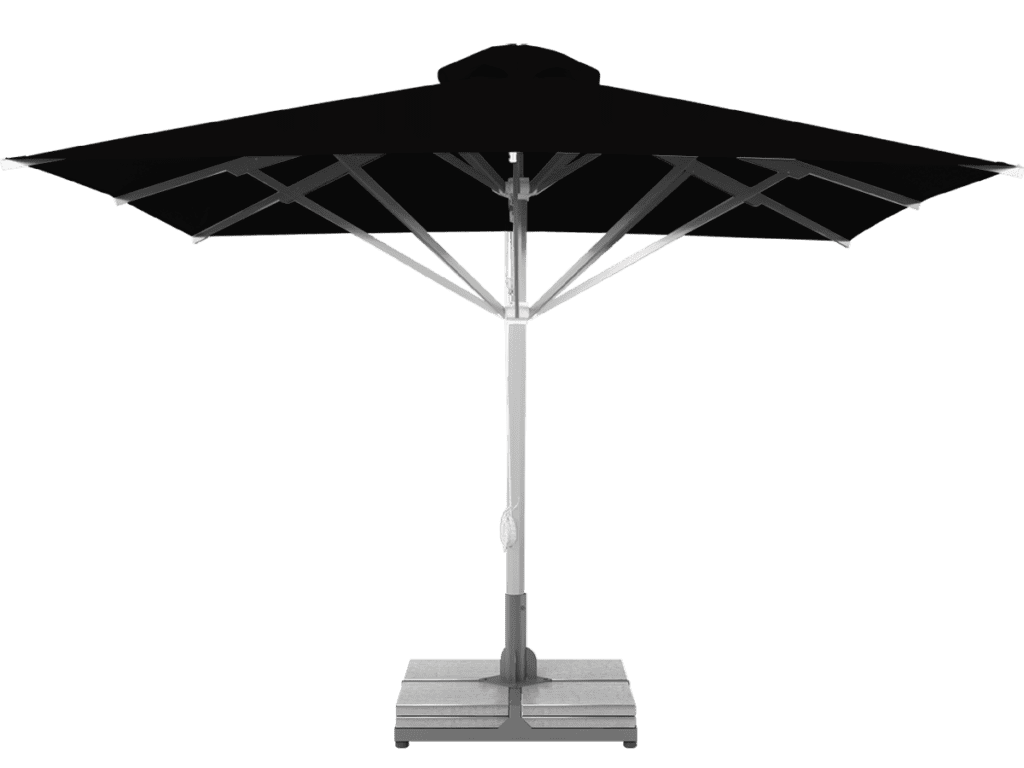 Telescopic Professional Umbrella Grand Extra Heavy - Type noir