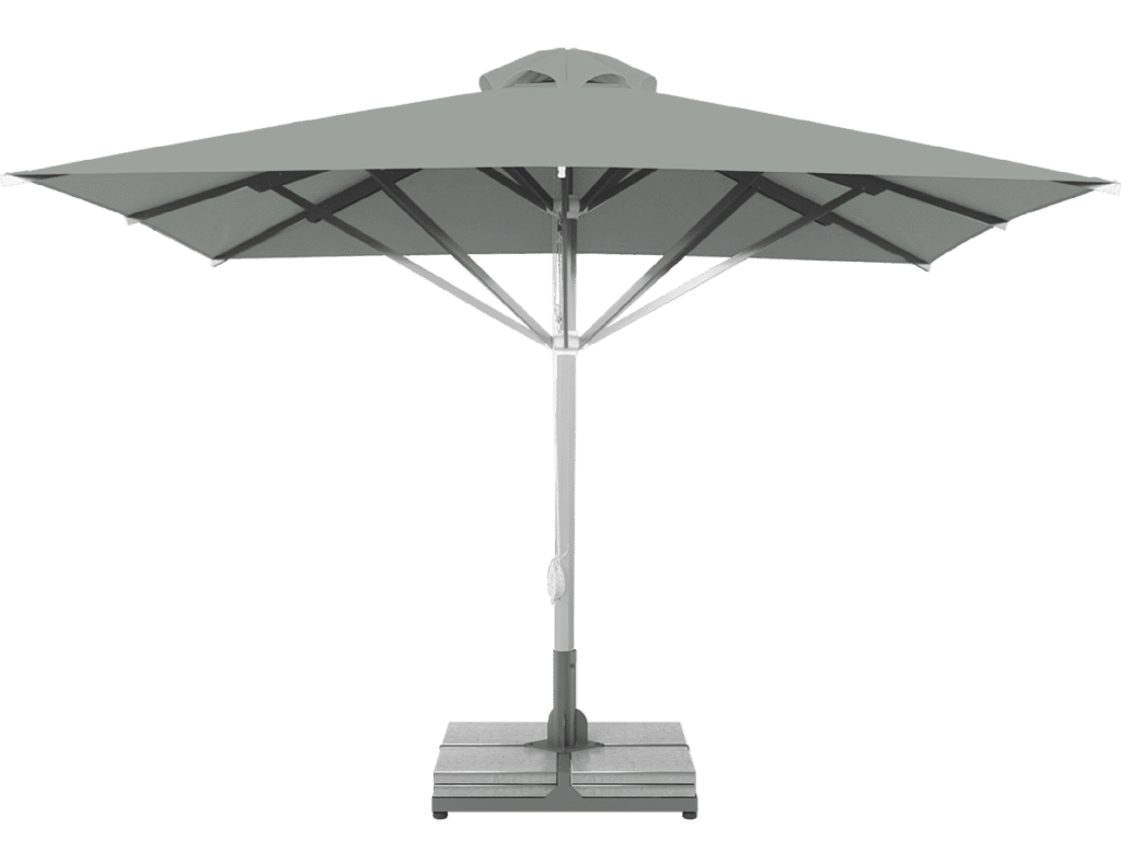 Professional Telescopic Umbrella Grand Extra Heavy - Type argent