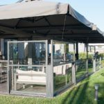 Open and Closed Dividers Bistro Fall Closed Type  - Partition Systems Sunblock