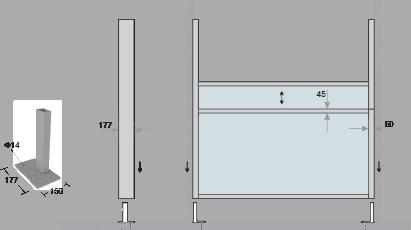 Διαστάσεις Pergola Fall Aνοιγοκλειώμενα διαχωριστικά για πέργκολες - Ανεμοφράκτες Διαχωριστικά Sunblock