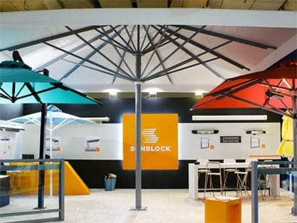 Professional Umbrellas - Partition Systems - Shading Systems Sunblock