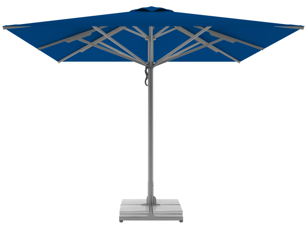 Telescopic Professional Umbrellas Queen Super Heavy Type blue