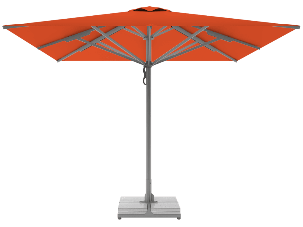 Telescopic Professional Umbrellas Queen Super Heavy Type orange