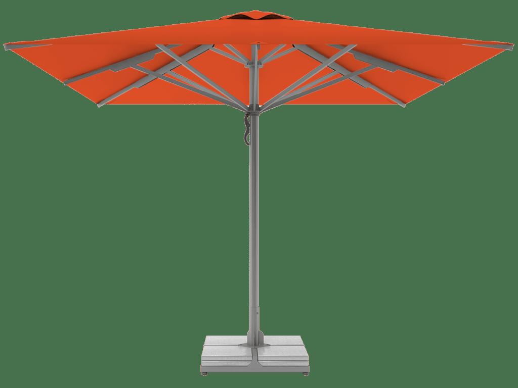 Τηλεσκοπική Επαγγελματική Ομπρέλα Queen Υπερ-Βαρέως Τύπου orange