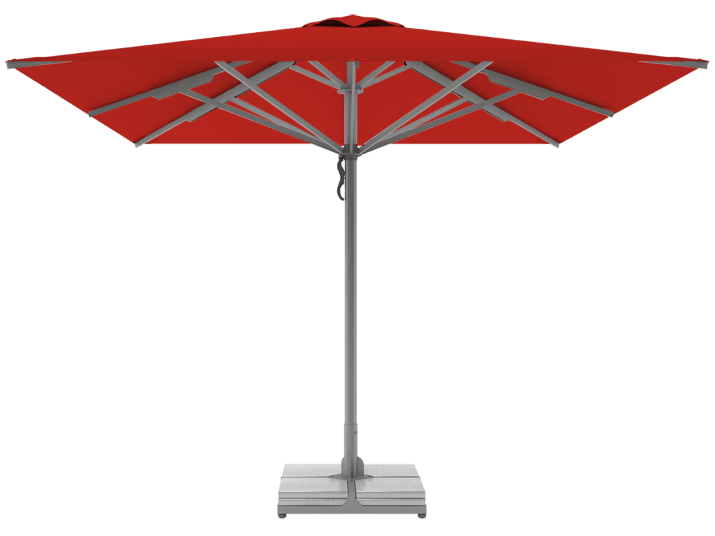 Telescopic Professional Umbrellas Queen Super Heavy Type vermillion