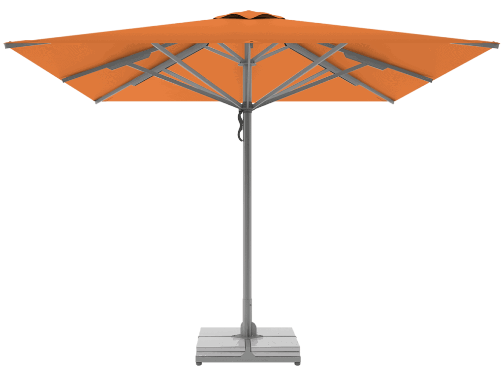 Telescopic Professional Umbrellas Queen Super Heavy Type mandarine