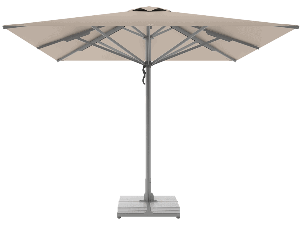 Professional Telescopic Umbrellas Queen Super Heavy Type grege