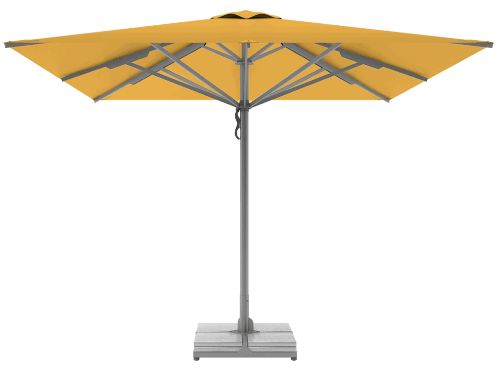 Professional Telescopic Umbrellas Queen Super Heavy Type jaune