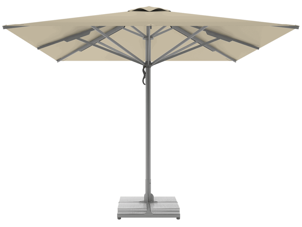Professional Telescopic Umbrellas Queen Super Heavy Type ivoire