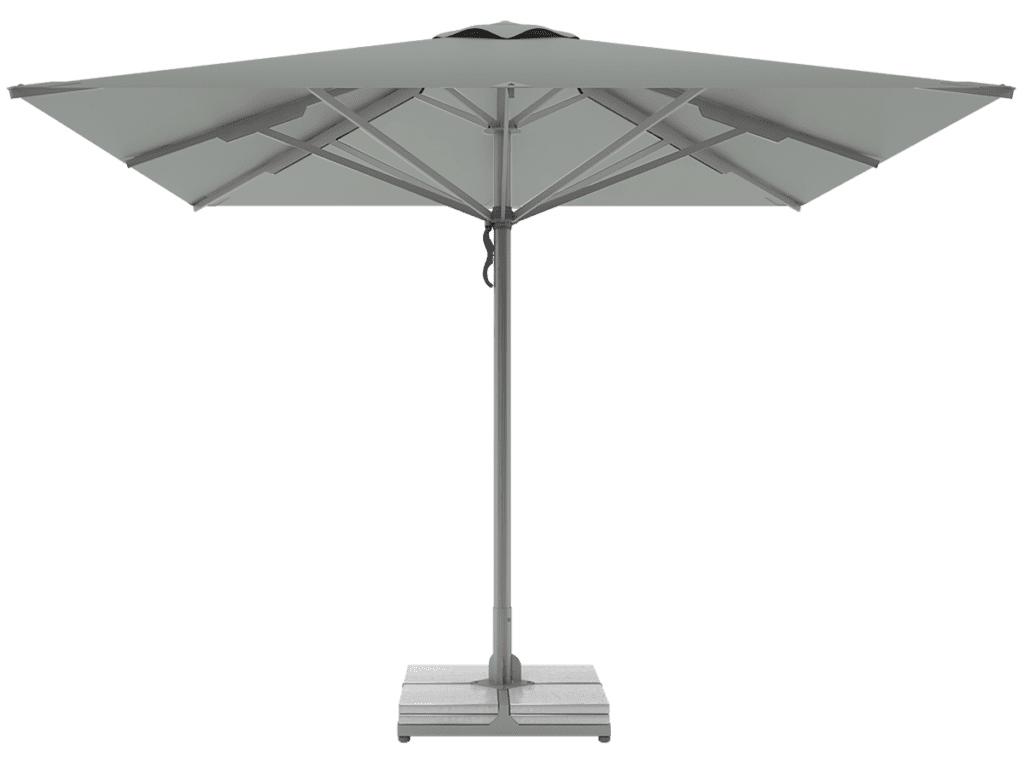 Telescopic Professional Umbrellas Queen Super Heavy Type argent