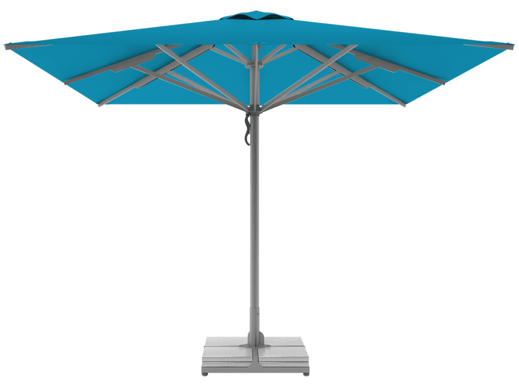 Telescopic Professional Umbrellas Queen Super Heavy Type azur