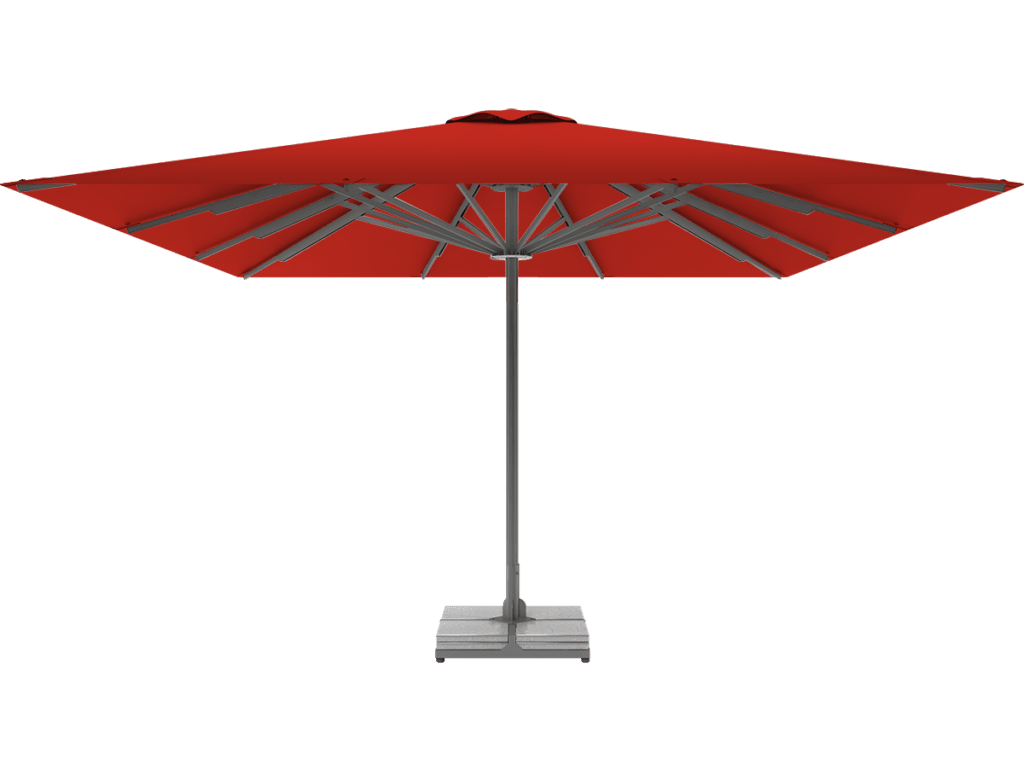 Professional Telescopic Umbrella Queen XL vermillion