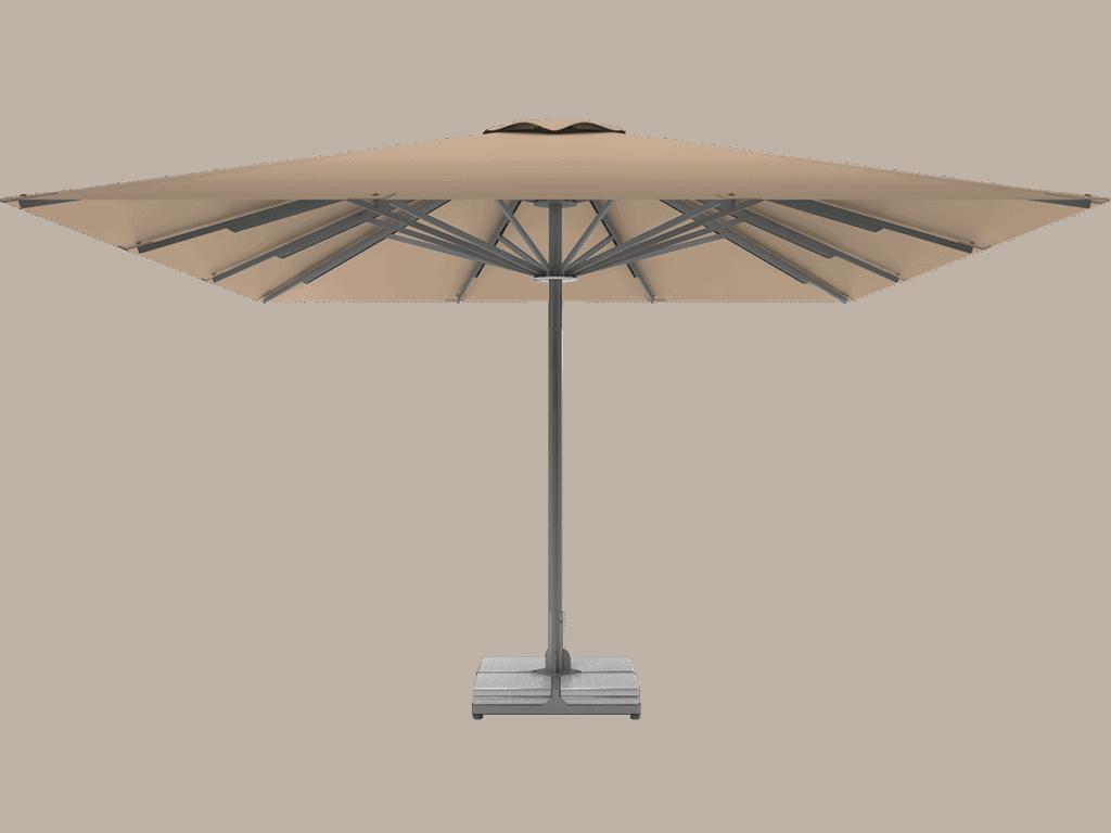 Professional Telescopic Umbrella Queen XL beige