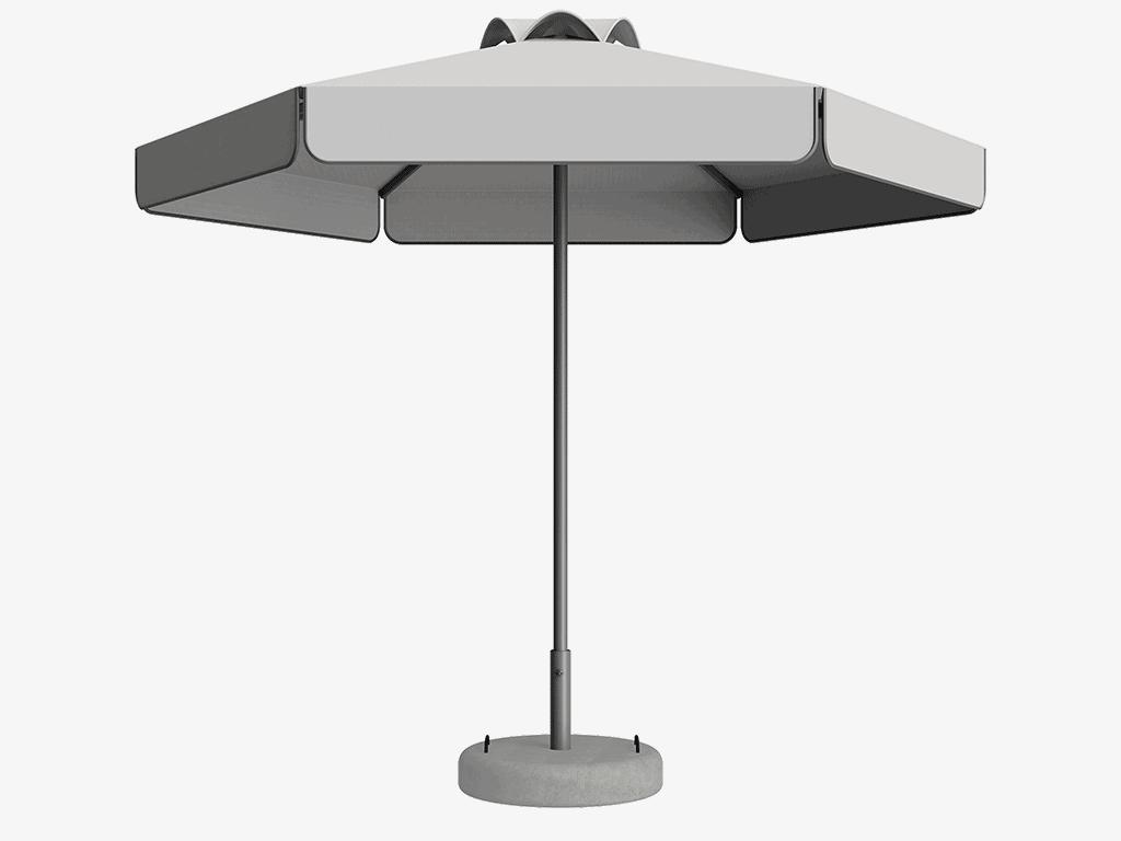 Ομπρέλα Τύπου Παραλίας Sole Ενισχυμένη Ελαφρού Τύπου Διαφημιστική - Sunblock
