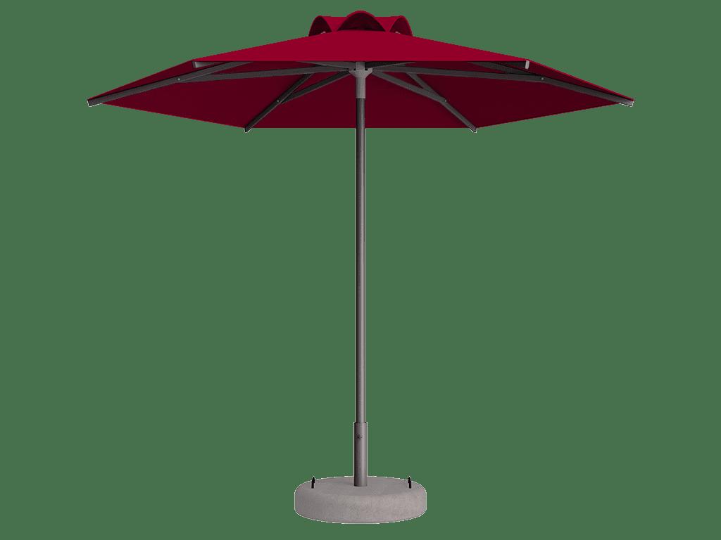 Ομπρέλα Τύπου Παραλίας Sole Ενισχυμένη Ελαφρού Τύπου Vermillion