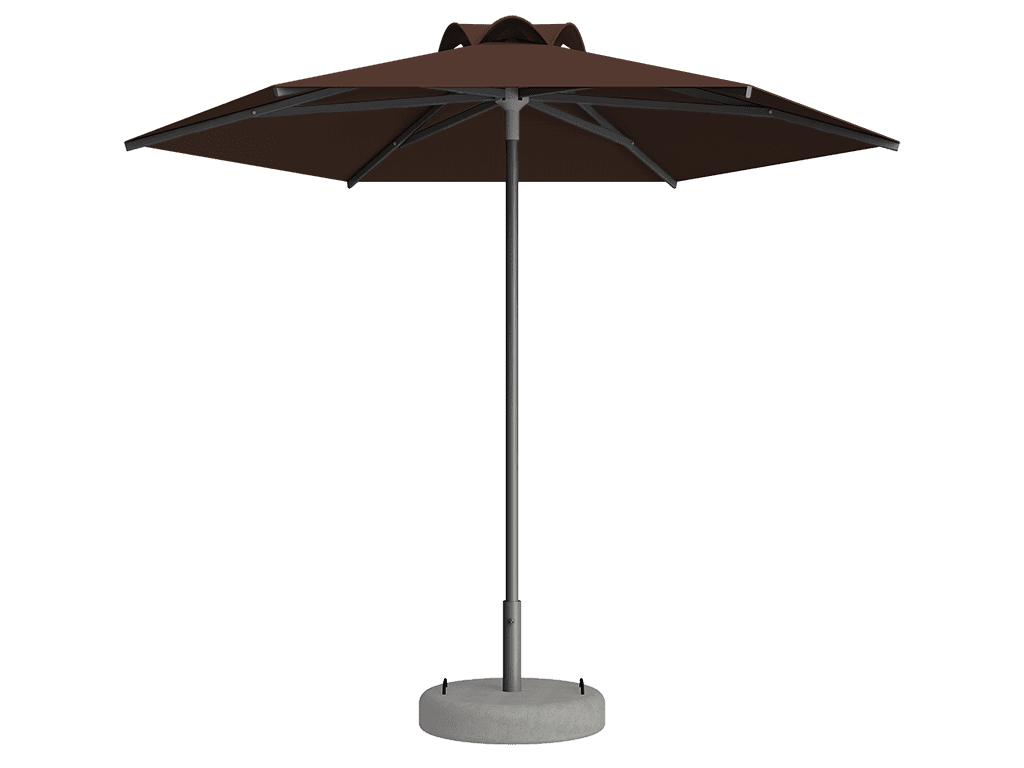 Ομπρέλα Τύπου Παραλίας Sole Ενισχυμένη Ελαφρού Τύπου Marron