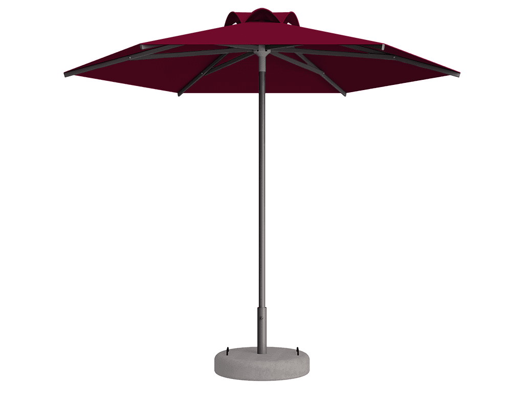 Ομπρέλα Τύπου Παραλίας Sole Ενισχυμένη Ελαφρού Τύπου Rouge