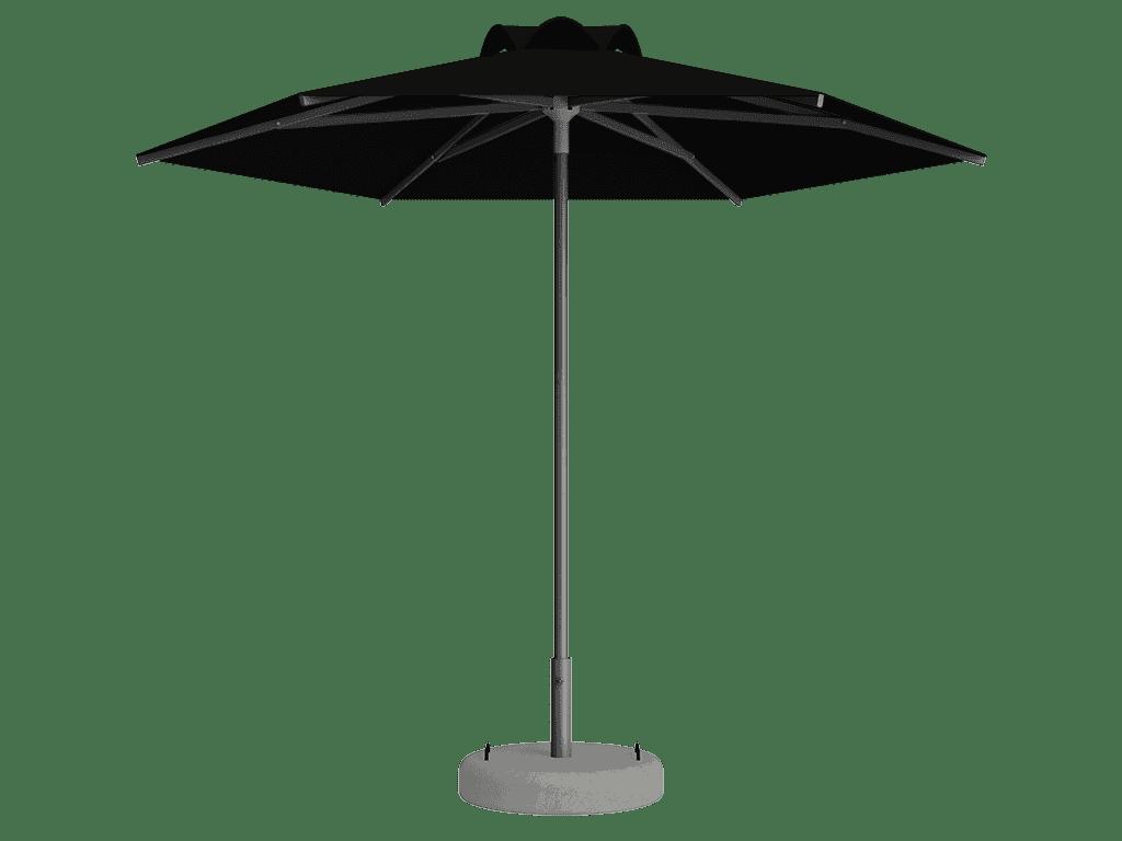 Ομπρέλα Τύπου Παραλίας Sole Ενισχυμένη Ελαφρού Τύπου Noir