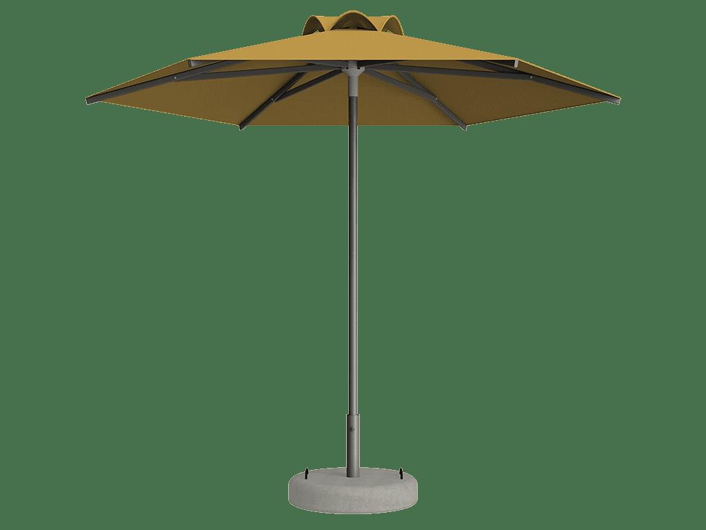 Ομπρέλα Τύπου Παραλίας Sole Ενισχυμένη Ελαφρού Τύπου Jaune