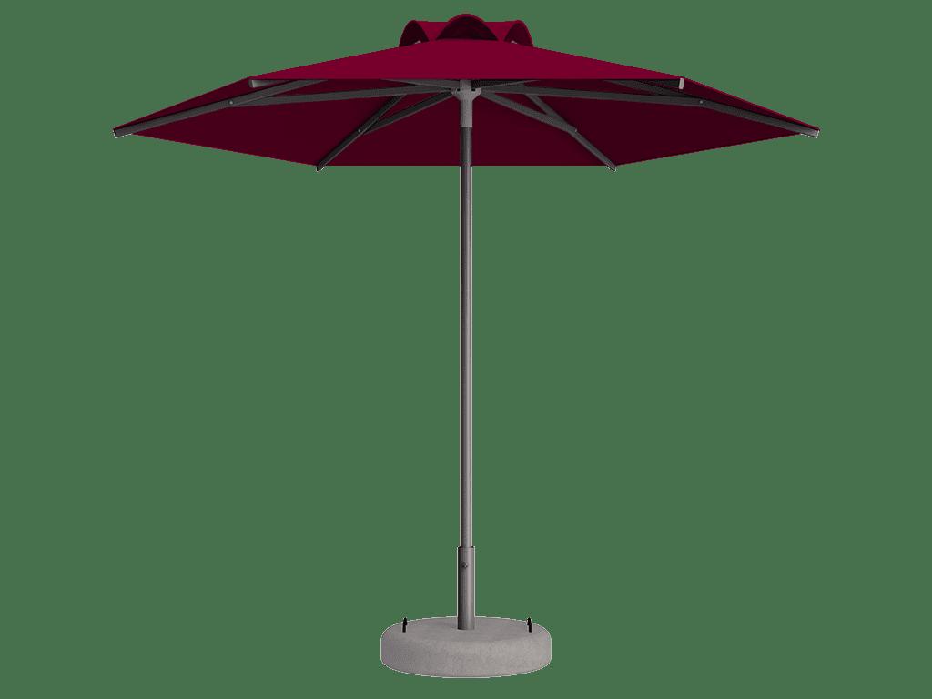 Ομπρέλα Τύπου Παραλίας Sole Ενισχυμένη Ελαφρού Τύπου Cerise