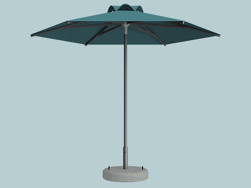 Ομπρέλα Τύπου Παραλίας Sole Ενισχυμένη Ελαφρού Τύπου Turquoise