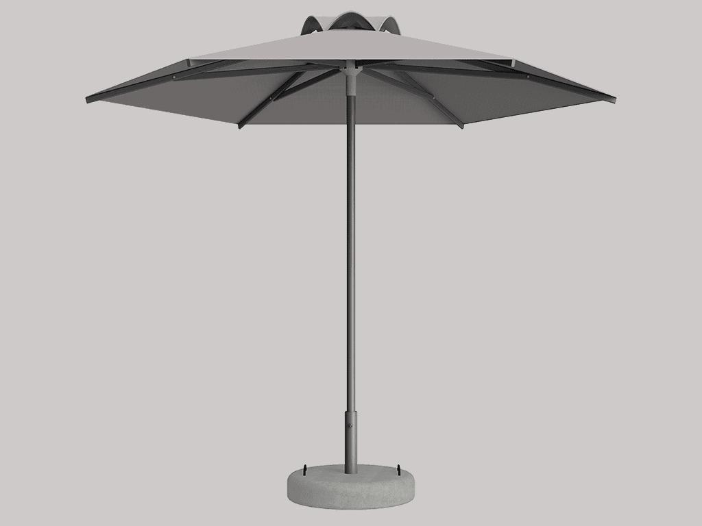 Ομπρέλα Τύπου Παραλίας Sole Ενισχυμένη Ελαφρού Τύπου Graphite