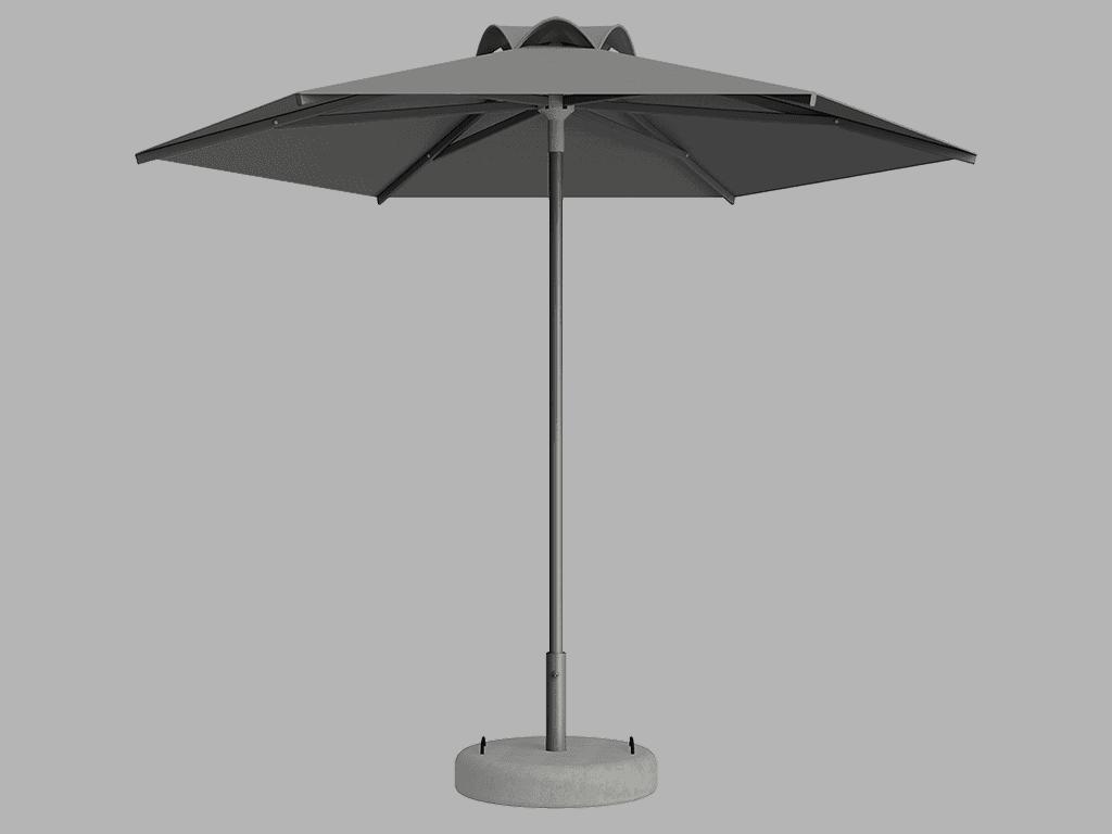 Ομπρέλα Τύπου Παραλίας Sole Ενισχυμένη Ελαφρού Τύπου Argent