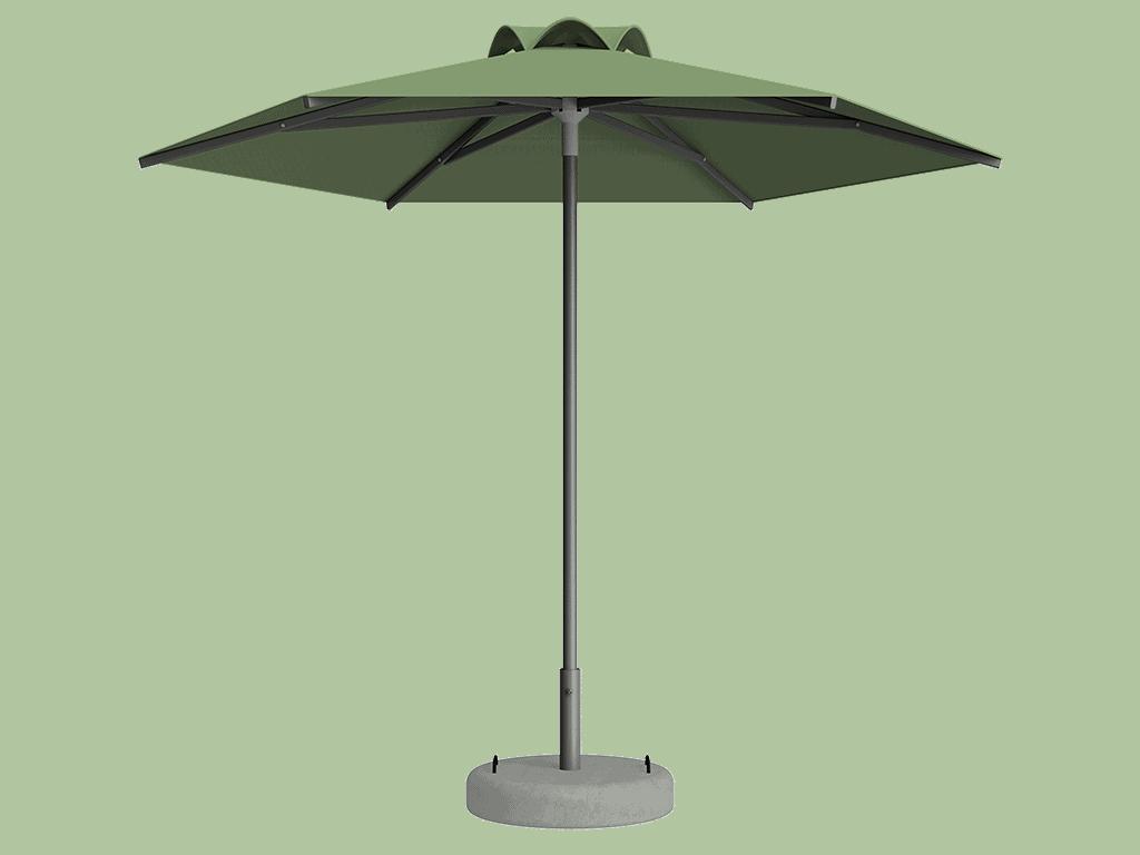 Ομπρέλα Τύπου Παραλίας Sole Ενισχυμένη Ελαφρού Τύπου Menthe