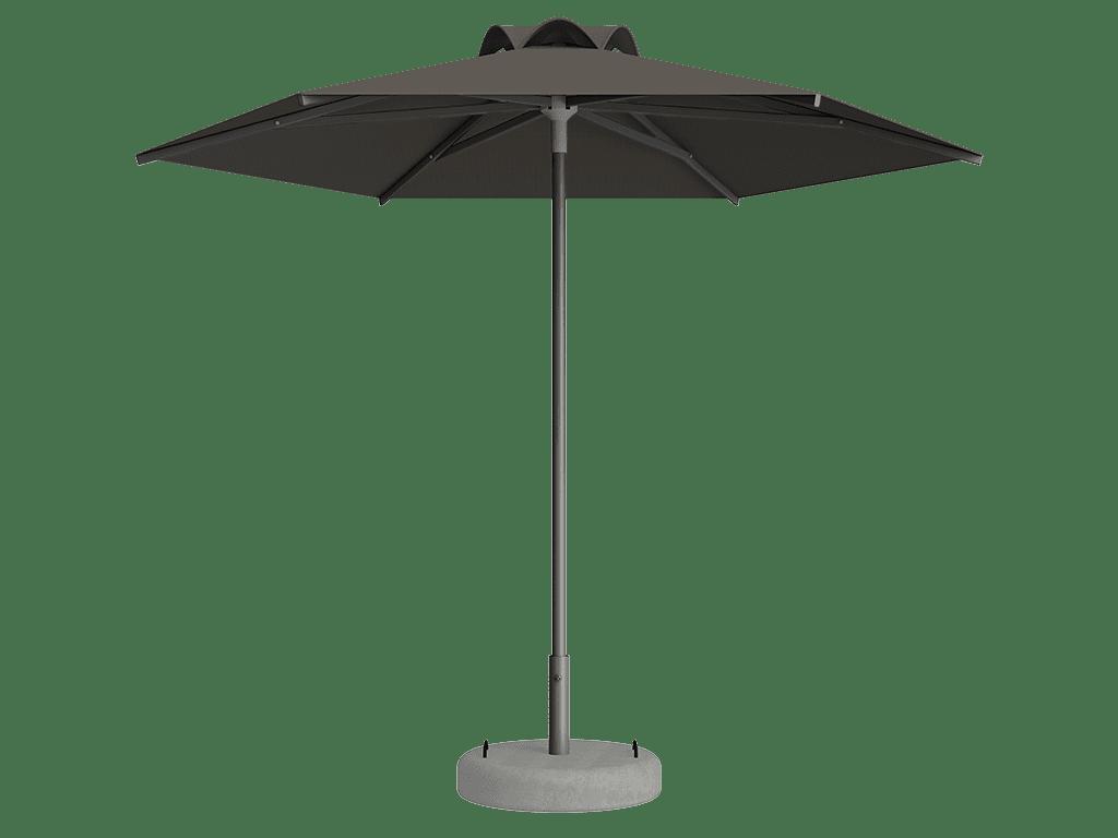 Ομπρέλα Τύπου Παραλίας Sole Ενισχυμένη Ελαφρού Τύπου Taupe
