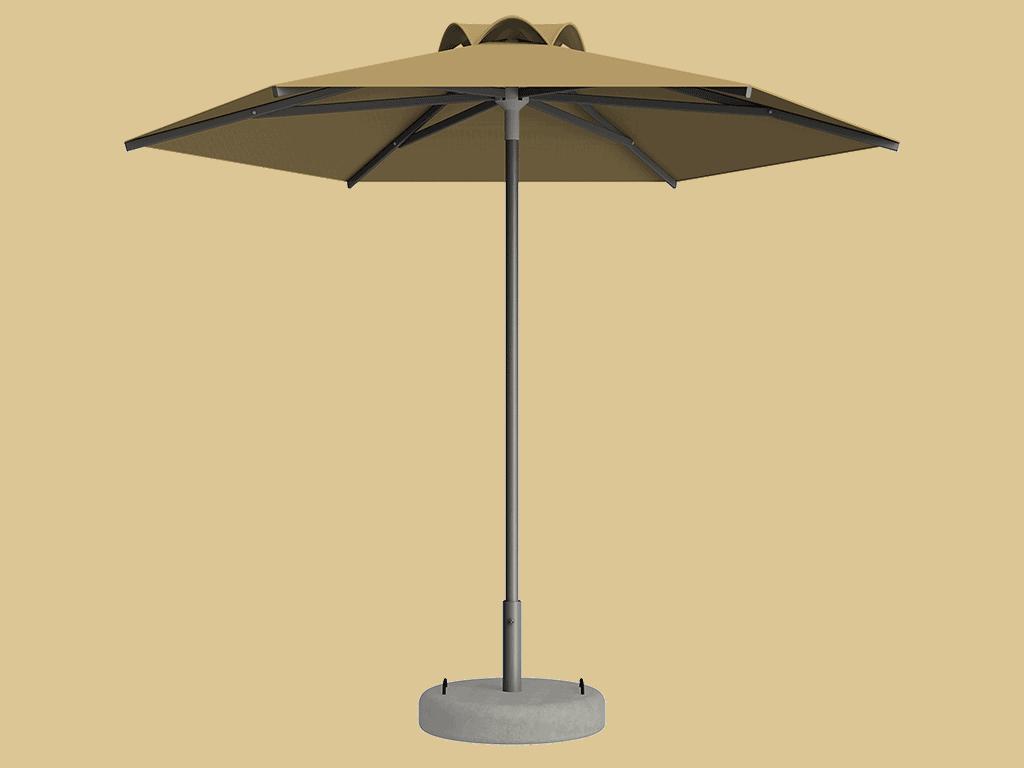 Ομπρέλα Τύπου Παραλίας Sole Ενισχυμένη Ελαφρού Τύπου Paille