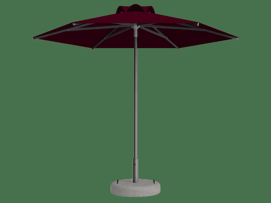 Ομπρέλα Τύπου Παραλίας Sole Ενισχυμένη Ελαφρού Τύπου Bordeaux