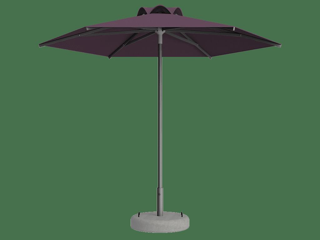 Ομπρέλα Τύπου Παραλίας Sole Ενισχυμένη Ελαφρού Τύπου Mauve