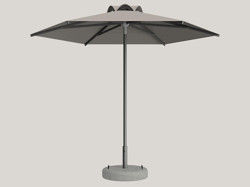 Ομπρέλα Τύπου Παραλίας Sole Ενισχυμένη Ελαφρού Τύπου Albatre Tweed