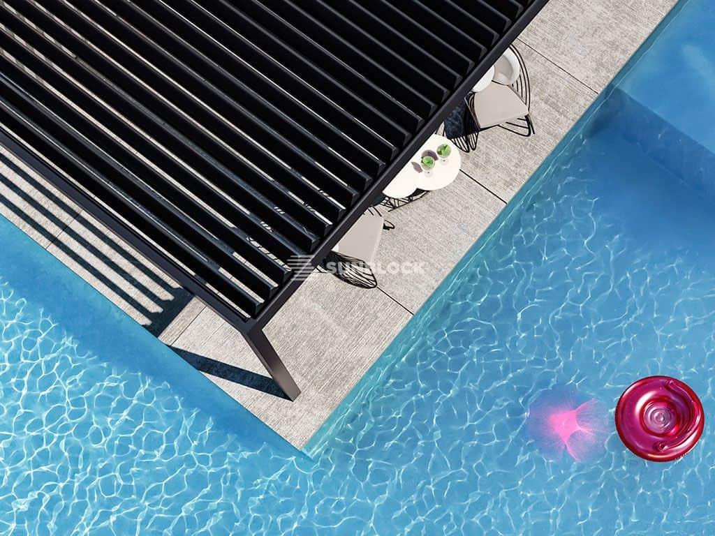 Βιοκλιματική Πέργκολα με Περσίδες Αλουμινίου Τοποθέτηση - Sunblock Συστήματα Σκίασης